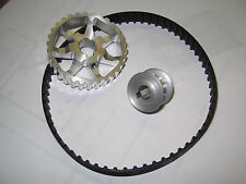 "Asian Mini Lathe 7"" x 10"",12 & 14"",Pulley/Belt 3:1 Reduction Power UpGrade, set1"