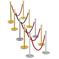 Queue Barrier Crowd Control Stanchion 3/4PCS Steel Hotel Twine/Velvet Rope