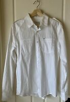 GUESS White Long Sleeve Dress/Casual Button Down Shirt Men's Size S Slim Fit