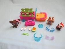 Littlest Pet Shop Lot Dog Lady Bug Bunny Picnic Time Pets 219 220 221 Set