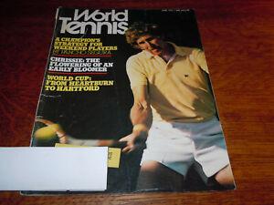 """VINTAGE JUNE 1975 """" WORLD TENNIS """" MAGAZINE - BRIAN GOTTFRIED COVER"""