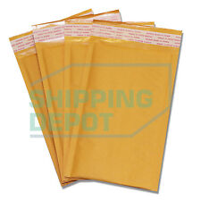 "50 #00 5x10 Kraft Bubble Mailers Self Seal Padded Envelopes 5""x10"" Secure Seal"