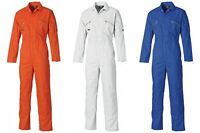 DICKIES WD4839 ZIP FRONT REDHAWK BOILERSUIT WORK POLY COTTON COVERALL OVERALL
