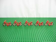 5x LEGO Classic Red Bicycle with 2 Wheels 6592 6236 6402 6370 #4719c01