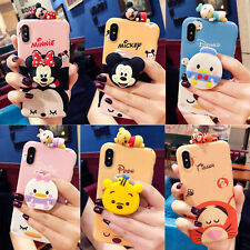 Cute Cartoon Doll Put Airbag Stand Holder Case Cover for iPhone XS Max XR 6 7 8+