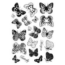 Crafty Individuals BEAUTIFUL BUTTERFLIES Unmounted Red Rubber Stamp