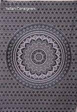 Ombre Art Poster Tapestry Wall Hanging Small Bedspread Style Indian Ethnic Gray