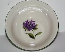 Tabletop Unlimited Garden Delight Serving Bowl Purple Floral Lilac 7""