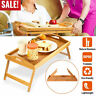 Bamboo Folding Wood TV Tray Dinner Table Coffee Tea Stand Serving Snack Portable