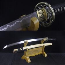 Real Hamon Full Tang T10 Clay Tempered Blade Japanese Samurai Sword Katana Sharp