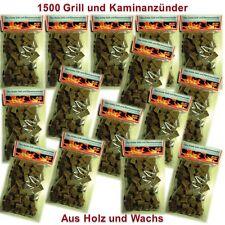 1500 St. Bio Anzünder Kaminanzünder Grillanzünder aus  Holz und Wachs