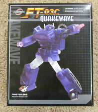 NEW Fanstoys Fans Toys Quakewave Masterpiece Transformers Shockwave FT-03C Clear