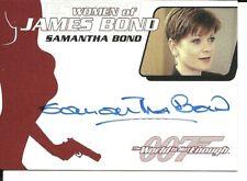 James Bond Archives 2014 Autograph card - WA37  Samantha Bond