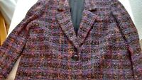 Jaeger Women's Tweed Boucle Jacket, Size L, Multi-Colored