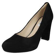 Court Shoes Clarks Kendra Sienna Ladies Black Leather Ladies' Fashionable EUR 38 5