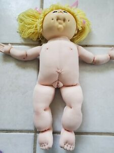 Vintage Cabbage Patch Doll Atomically Correct Artist Created Yellow Hair