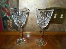 Waterford Classic Lismore Clear Crystal Wine Sherry Claret Glasses Set of 2 BNOS