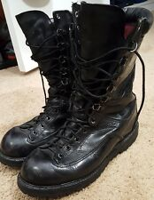VTG MENS MATTERHORN THINSULATE GORE-TEX WORK LEATHER BLACK BOOTS SIZE 7 M