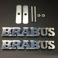 Alu Powered By Brabus Abzeichen Emblem Aufkleber Innen Hinten Kofferraum
