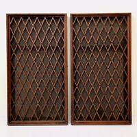 Vintage Pioneer CS-77 Speakers Lattice Grills part only - Pair
