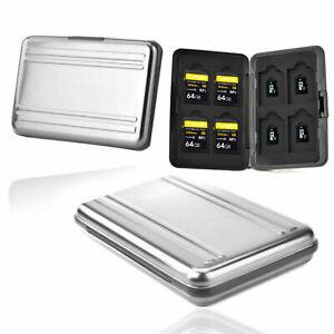 SD Speicherkarten Schutzbox Aluminium Micro SD SDHC Tasche Case Box Etui Hülle