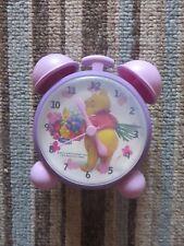 winnie the pooh alarm clock battery purple lilac 12 cm childs