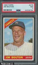 1966 Topps #276 Jim Bouton New York Yankees PSA 7 NM
