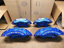 Full Set ZR1 Blue Corvette Calipers 09-13 Corvette 25923821 22 32 33 Brembo