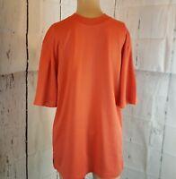 Cutter & Buck Men's Shirt Orange Short Sleeve Size Small