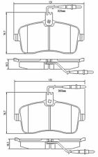 For Peugeot 407 6D Front Axle Brake Pads Set Including Wear Warning Contact