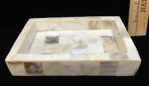 Soap Dish Holder Saver Mother of Pearl Sea Shell Mosaic Exterior Rectangle