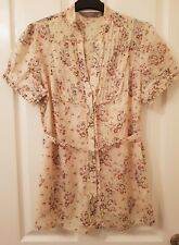 Ladies Maternity Blouse - Floral Pattern - Button Detail - Size 14 - New Look