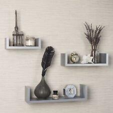 wooden gray wall shelves for sale ebay rh ebay com