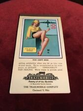 1946 Vintage Automotive Calendar Earl Moran Pin-Up Full Pad Rare TRAILMOBILE CO.