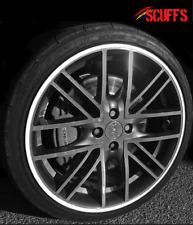 SCUFFS ULTRA by Rimblades Car Alloy Wheel Rim Protectors Tyre Guard Line WHITE