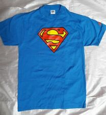 Vintage Rare 1990's Graphitti Designs SUPERMAN Blue T Shirt Large ANVIL