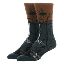 Nick Fury 360 Crew Socks Marvel Comics Bioworld 1 Pair Captain Marvel SHIELD New
