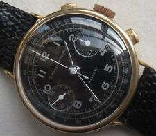Girard Perregaux chronograph mens wristwatch gold filled case refinished dial