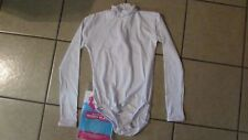 Esteem Athletic Adult White Body Suit-L-Turtleneck Cheerleading Uniform (G 63)