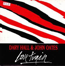 "DARYL HALL AND JOHN OATES - LOVE TRAIN SINGLE 7"" PROMO SPAIN 1989 MISTAKE ON COV"