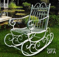 Metal/Steel Garden Rocking Chair  In Antique Aged White Indoor & Outdoors Porch?