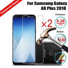 2X Tempered Glass 9H+ Screen Protector For Samsung Galaxy A8 Plus 2018 / C7 2017