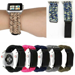 Woven Nylon Rope Strap For Apple Watch Series 5 4 3 2 Band Bracelet 44/40/38/42