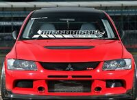 Windshield Decal Car Sticker Banner for Mitsubishi Evo Evolution DOHC Lancer MR