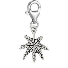 """""""Maple Leaf"""" Clip On Pendant for European Charm Jewelry w/ Lobster Clasp"""