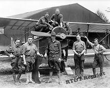 Photograph  Airmail Airplane Curtiss JN-4H & Crew Polo Field Year 1918  8x10