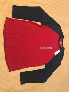 Children's Place Baseball Shirt ***New With Tags*** Size L 10-12 Burgandy & Navy