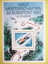 Block  23 ** ,BRD 1991, Nr. 1496, Bobsport-WM Altenberg