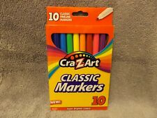 CRAZART 10 WASHABLE CLASSIC COLOR MARKERS FINE LINE FREE SHIPPING