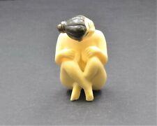 Vintage Japanese Nude Lady Netsuke. Okimono Hand Made From Resin. Free Shipping